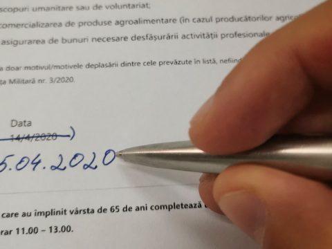 Rendőrség: a dátum módosításával újrahasználható a felelősségvállalási nyilatkozat
