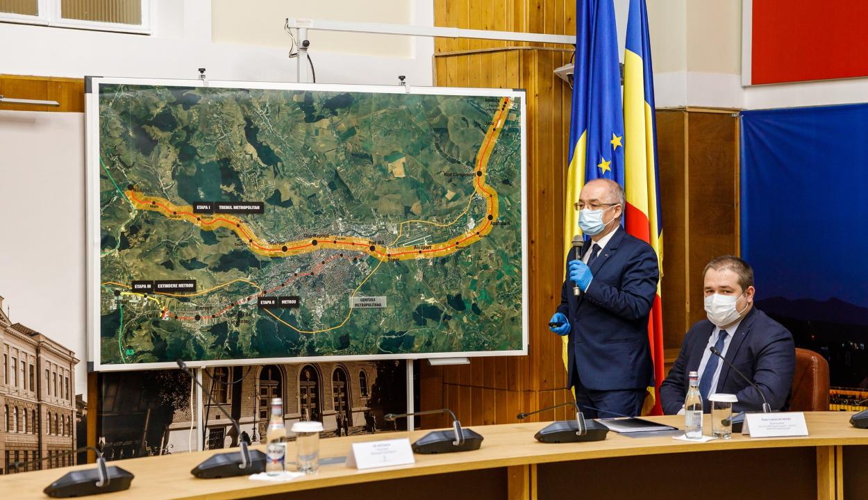 Aláírták a szerződést a kolozsvári metró és HÉV megvalósíthatósági tanulmányának elkészítésére