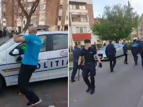 Elszabadultak az indulatok Vajdahunyadon, a rendőrökre támadtak az emberek