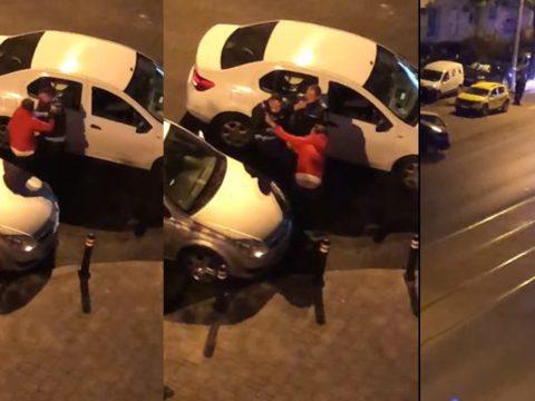 Az utcán ütlegelt egy férfit egy rendőr Bukarestben