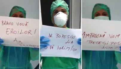 Tánccal és bátorító üzenetekkel biztatják társaikat a Victor Babeș kórház dolgozói