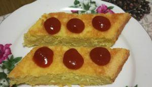 Lázár Zsuzsa egyik remekül sikerült süteménye: dzsemmel ízesített rizsfelfújt