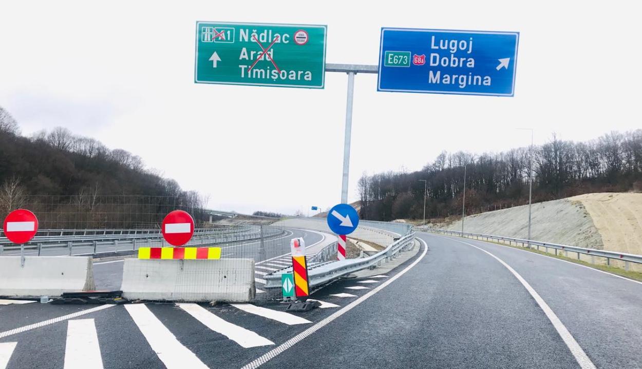 A teherforgalom számára is megnyitják a dél-erdélyi autópálya 21 kilométeres szakaszát
