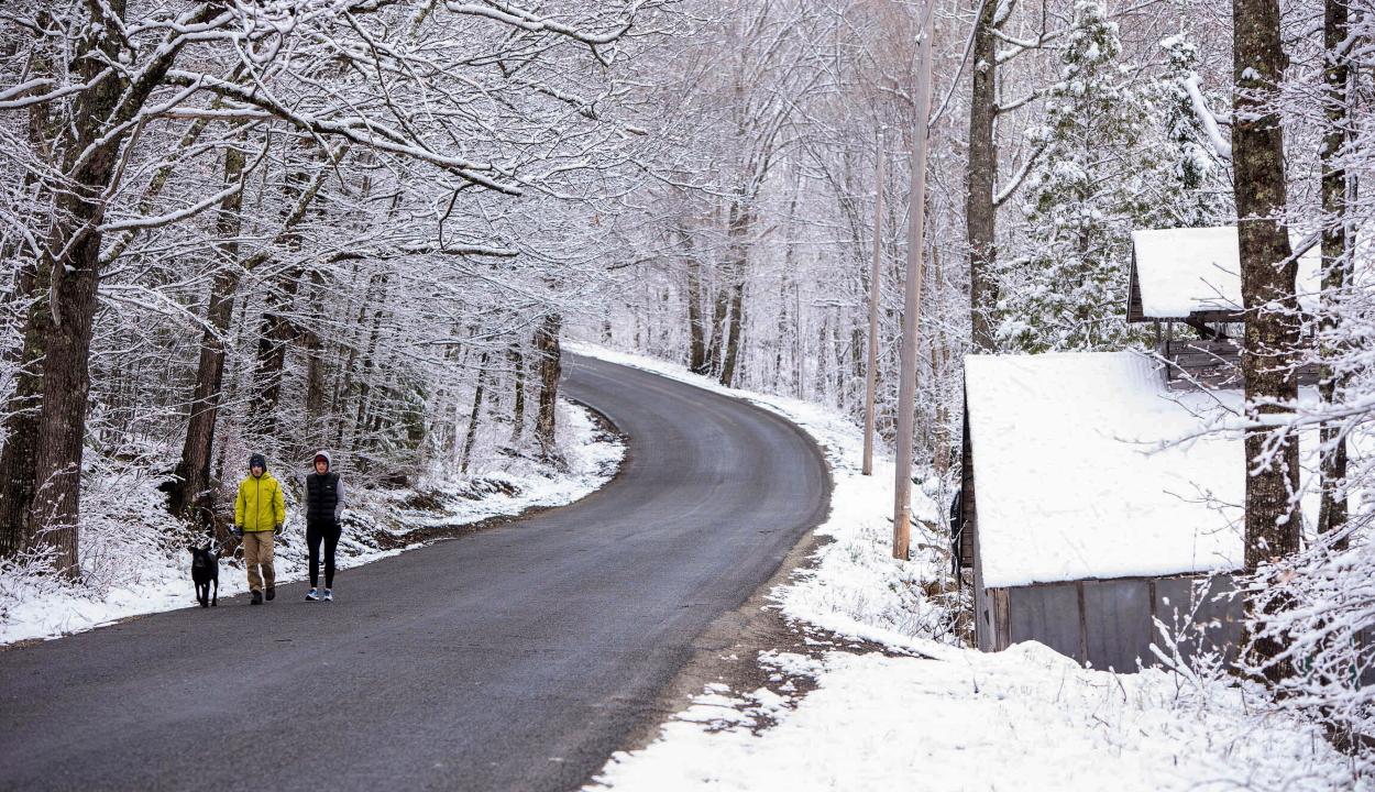 Északi-sarki ciklon következtében havazik az Egyesült Államok északkeleti partvidékén