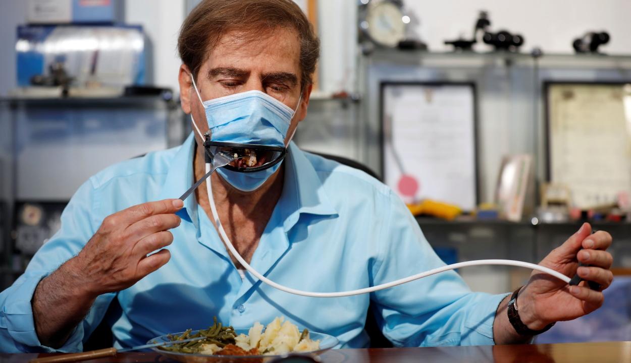 Éttermi étkezéshez használható szájmaszkot fejlesztettek ki