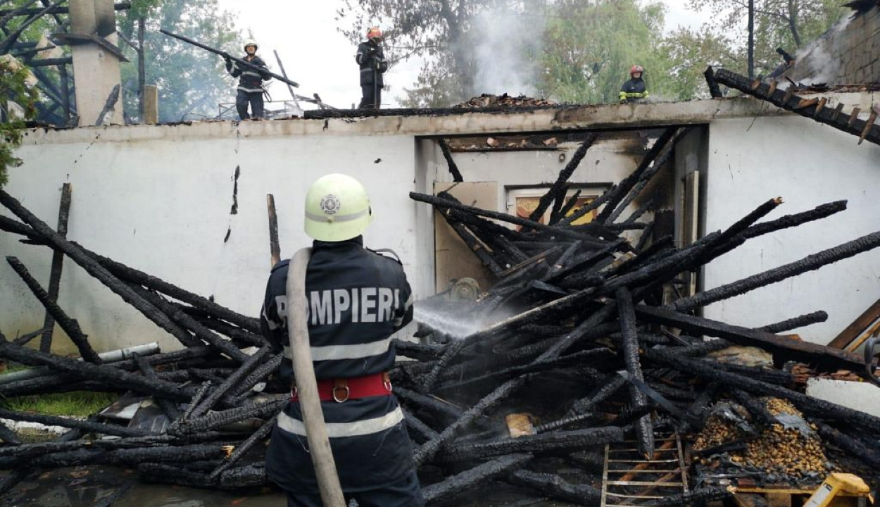 Tűz ütött ki a Kovács mészárszéknál