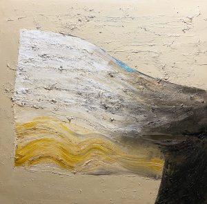 Vajna László Valami csöndbe, puha végtelenbe című festménye