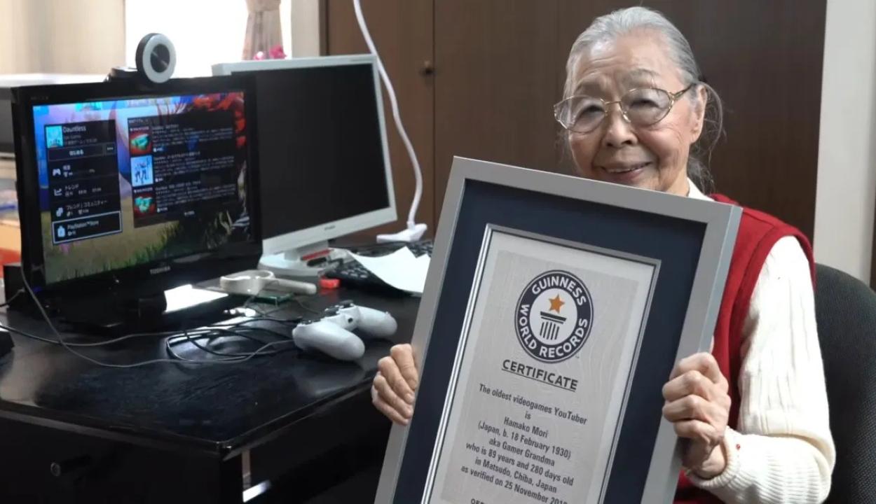 Guinness-rekordot döntött a 90 éves japán gémer nagyi