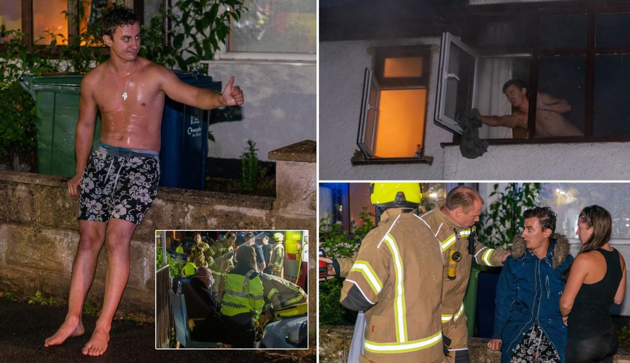 Hősként ünnepelnek egy román férfit Nagy-Britanniában, miután kimentette szomszédját a tűzből