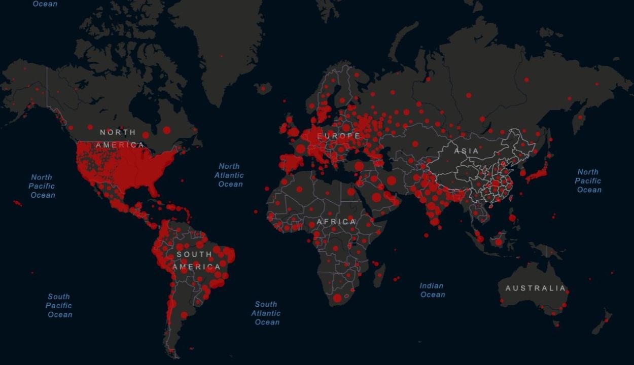 Meghaladta a 20 milliót a koronavírus fertőzöttek száma a világon