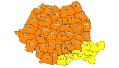 Az ország területének háromnegyedét érintő narancssárga viharriasztást adtak ki