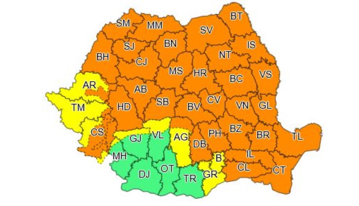 Narancssárga riasztást adtak ki az ország területének háromnegyedére