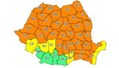 Narancssárga viharriasztást adtak ki 33 megyére