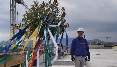 Kézdi mérnök az OTP Bank tetején
