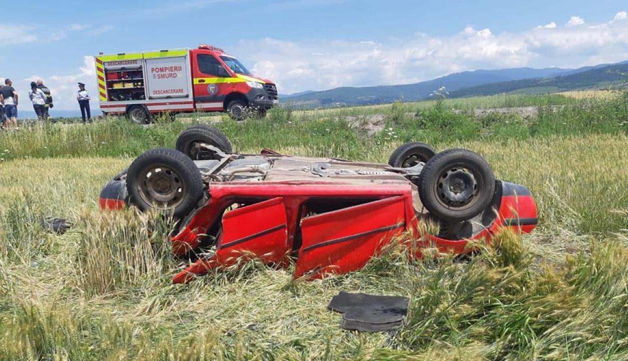 Baleset Imecsfalva és Zabola között – 12 személyt szállítottak kórházba