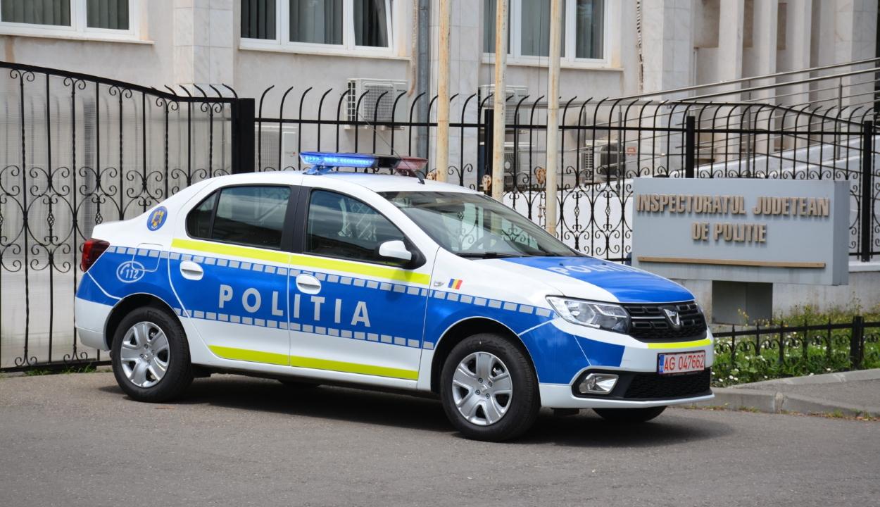 Tíz új járőrautót kapott a Kovászna megyei rendőrség