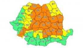 Sárga és narancssárga jelzésű viharriadó az ország 31 megyéjében
