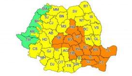 Narancssárga riasztást adtak ki 16 megyére a várható viharok miatt