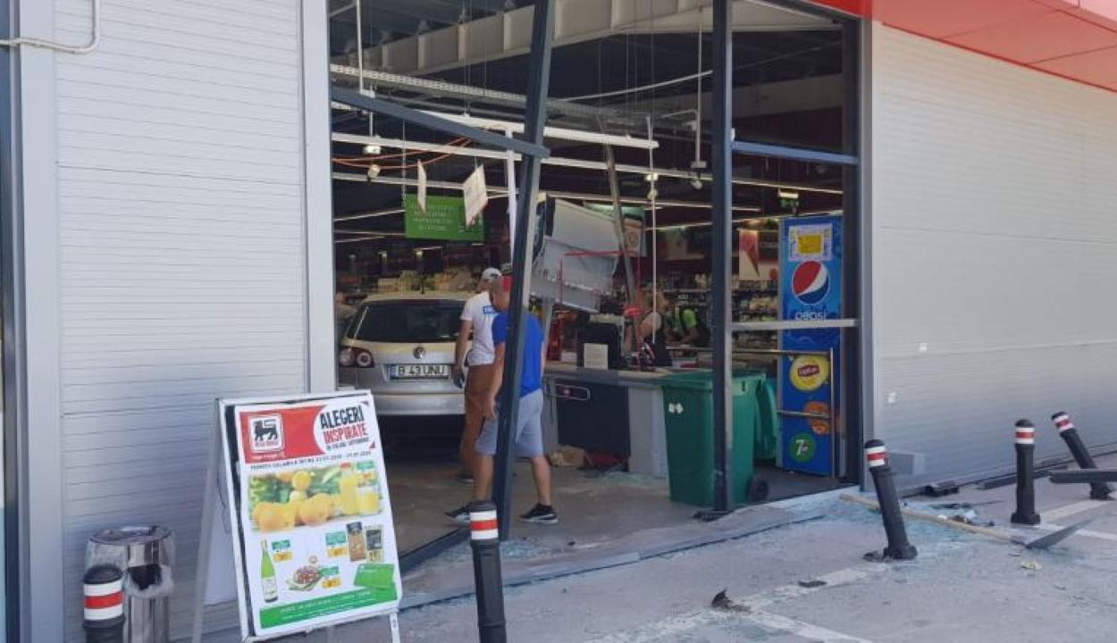 """Az üzletben """"parkolta le"""" autóját egy nő Ilfov megyében"""