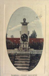 Kossuth zsombolyai szobrát dinamittal robbantották fel kozterkep.hu