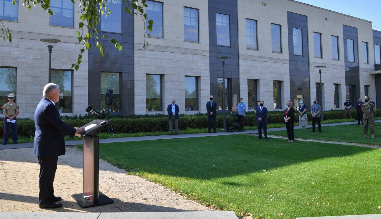 A 2001. szeptember 11-ei terrortámadás áldozatairól emlékezett meg az USA bukaresti nagykövete