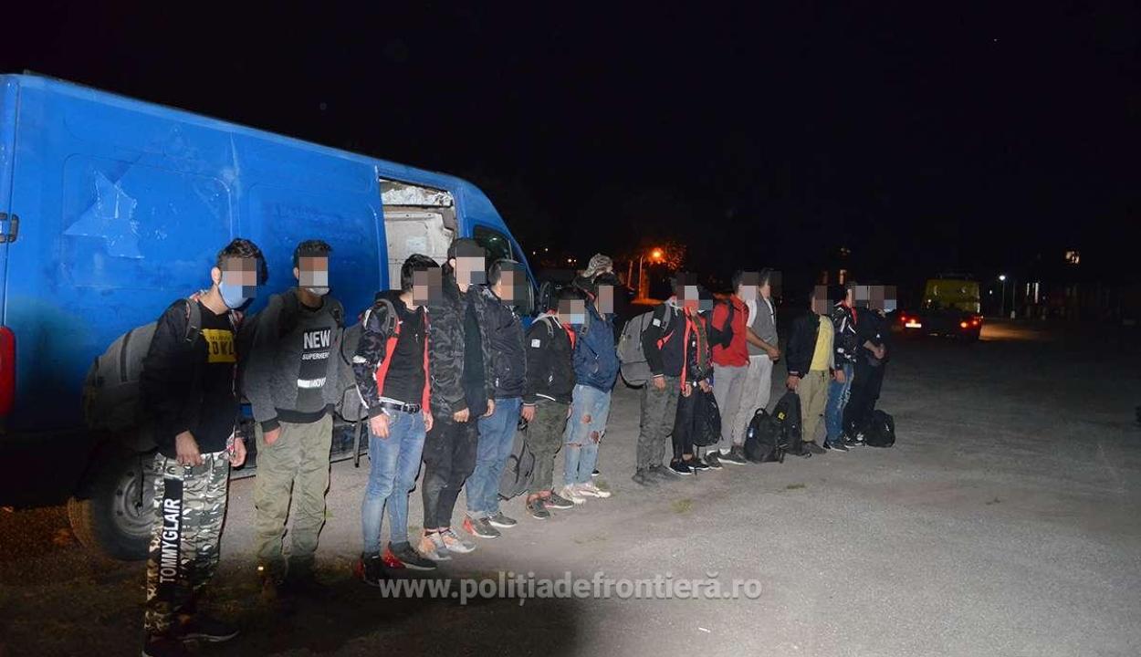 Gumidefekt buktatott le egy bevándorlócsoportot Temes megyében
