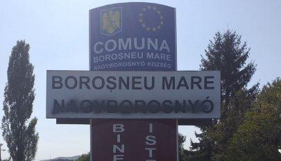 Lefestették a magyar feliratot Nagyborosnyó helységnévtábláján