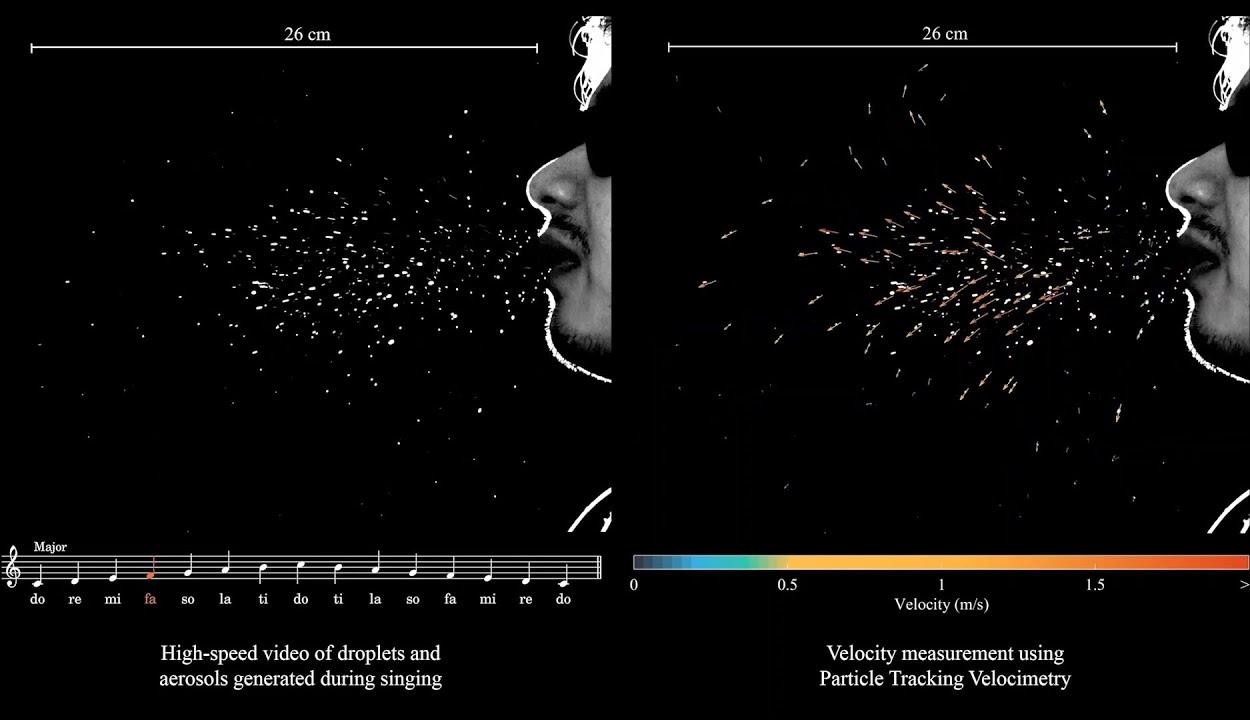 Videó mutatja, miért nem jó ötlet koronavírus idején énekelni