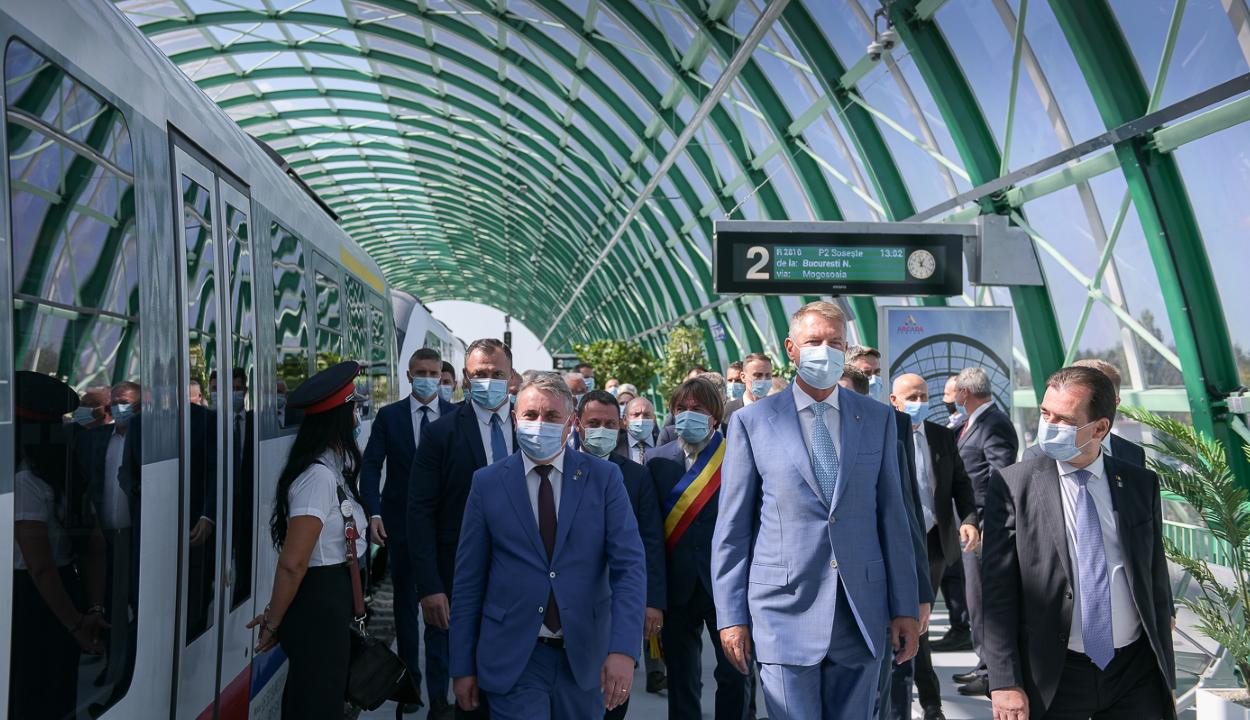 Iohannis: alapvetően fontos az Északi pályaudvar és a Henri Coandă repülőtér közötti kapcsolat
