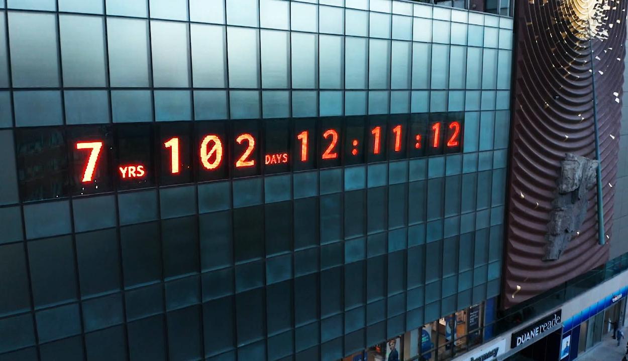Visszaszámláló óra figyelmeztet a globális felmelegedés veszélyeire
