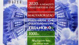 Bélyegblokkot bocsátott ki a Magyar Posta a Trianon-évfordulóra