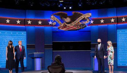 Lényeges kérdésekről és higgadtan vitázott Trump és Biden az utolsó elnökjelölti vitán