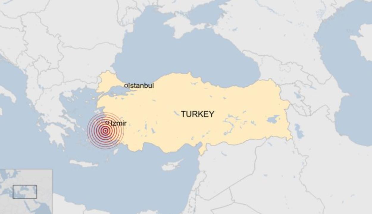 FRISSÍTVE: 6,7-es erősségű földrengés rázta meg Törökországot és Görögországot