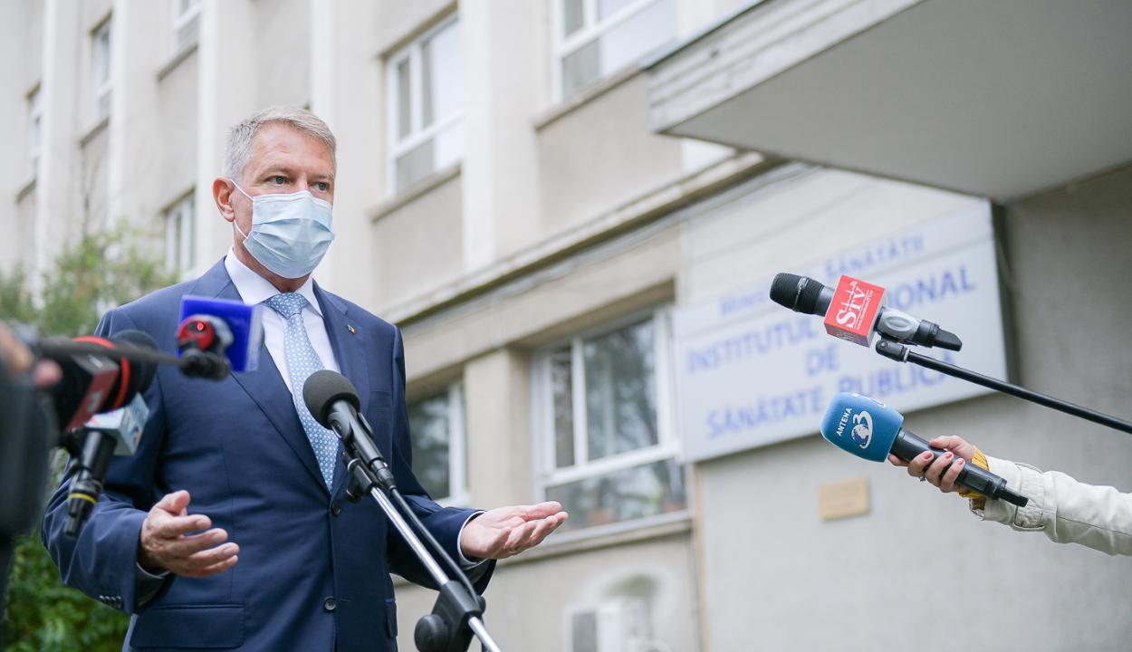 Iohannis: nem kell pánikba esni, de be kell tartani az egészségügyi óvintézkedéseket