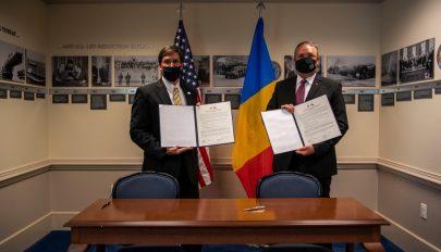 Aláírták az amerikai–román közös védelmi célkitűzésekről szóló megállapodást