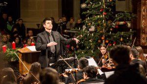 2. Karnagyként egy karácsonyi koncerten