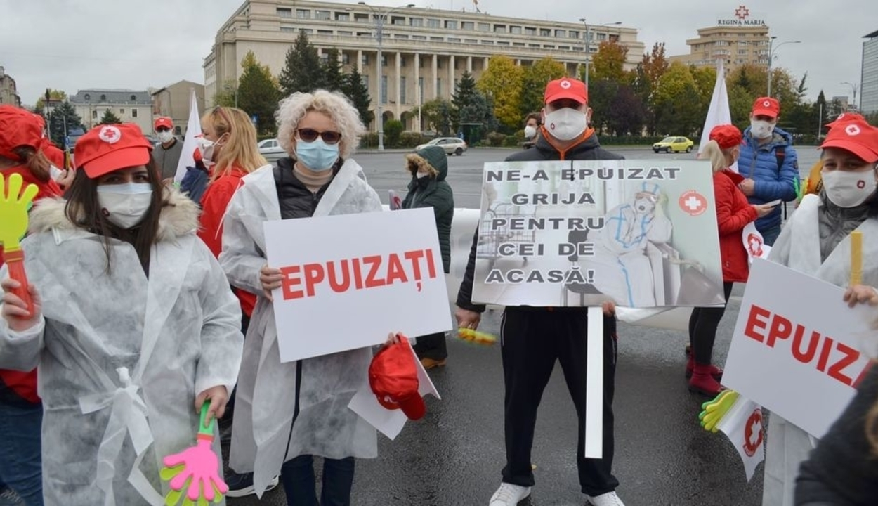 A kimerültség miatt tüntettek