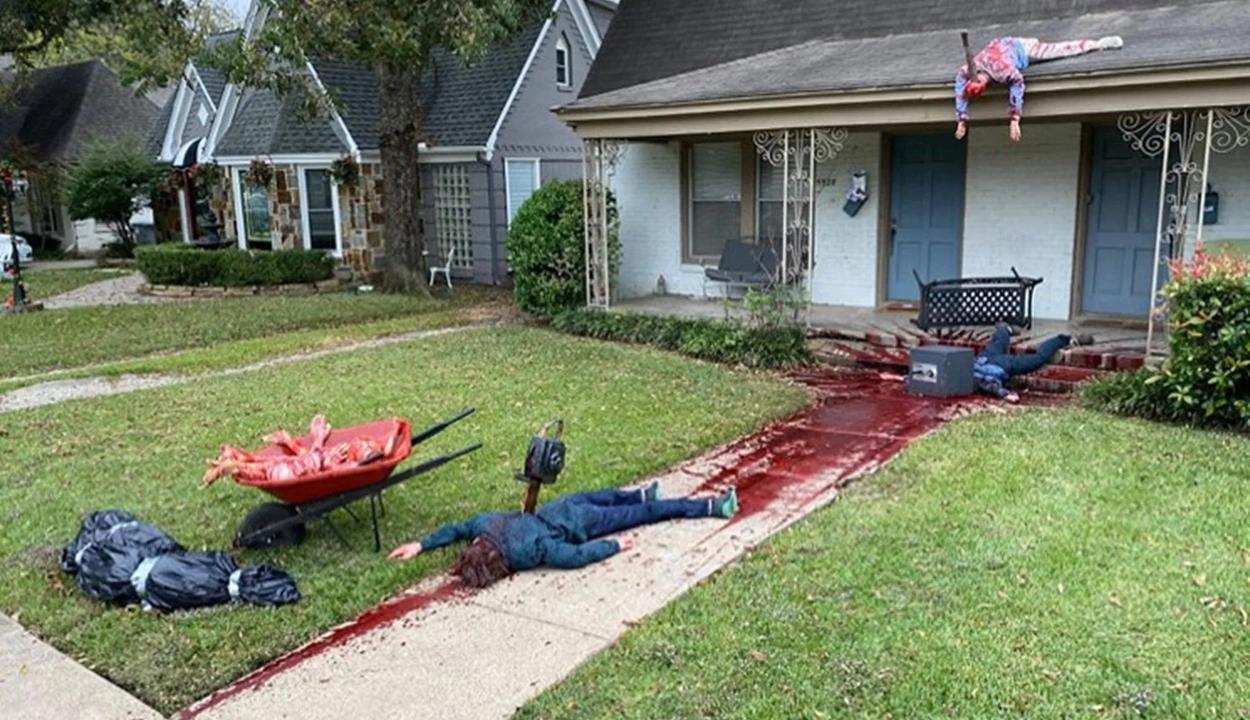 Túl élethű volt a horrordekor, kihívták rá a rendőröket