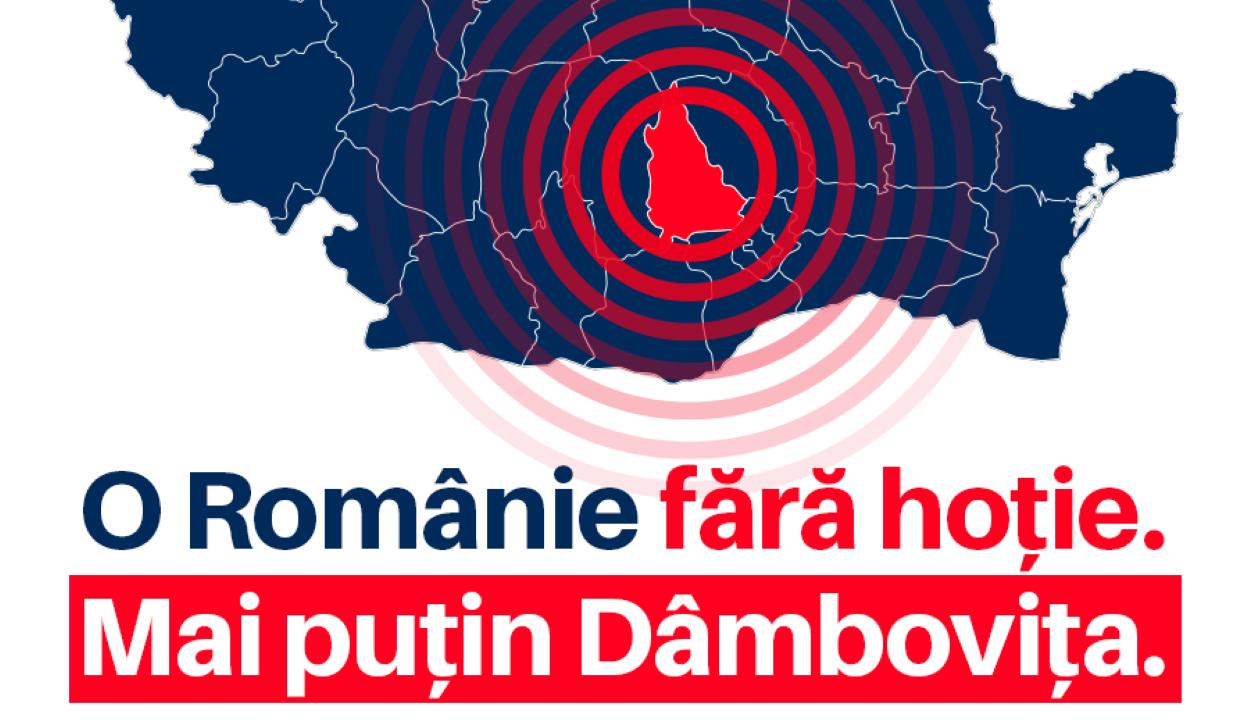 """Dâmbovița megyében betiltották a """"Tolvajlás nélküli Romániát"""" jelmondatot"""