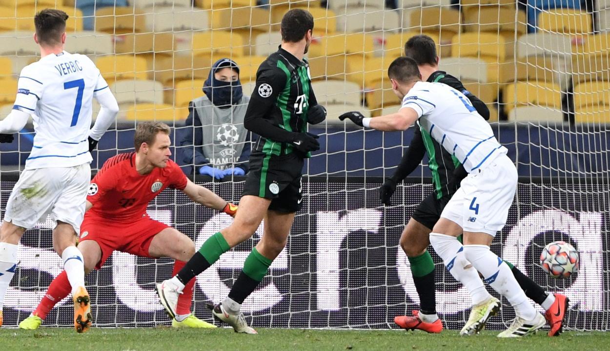 Bajnokok Ligája: egygólos kijevi vereséggel búcsúzott a Ferencváros