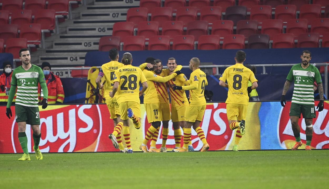Bajnokok Ligája: könnyedén nyert a Barcelona a Puskás Arénában