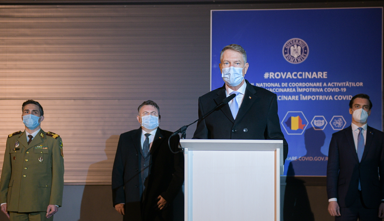 Iohannis: a Legfelsőbb Védelmi Tanács jóváhagyta az oltási stratégiát