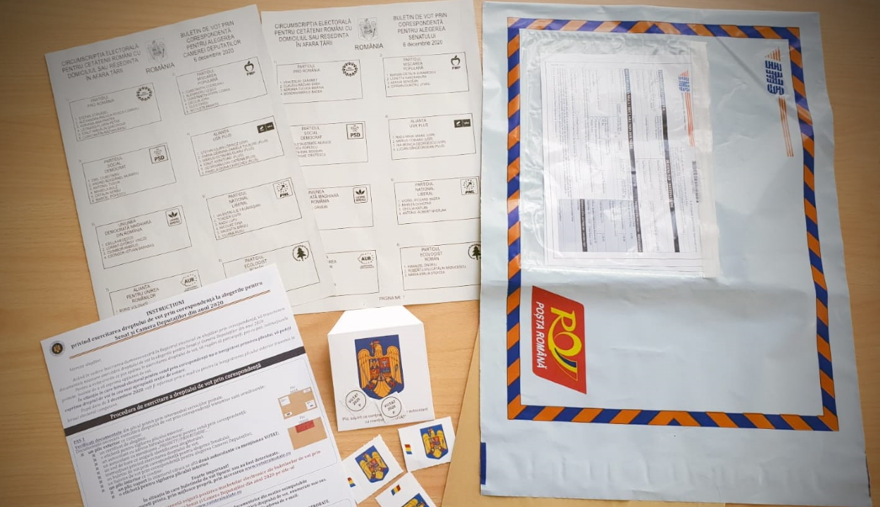Csütörtökig fogadják a külföldön élő román állampolgárok levélszavazatait