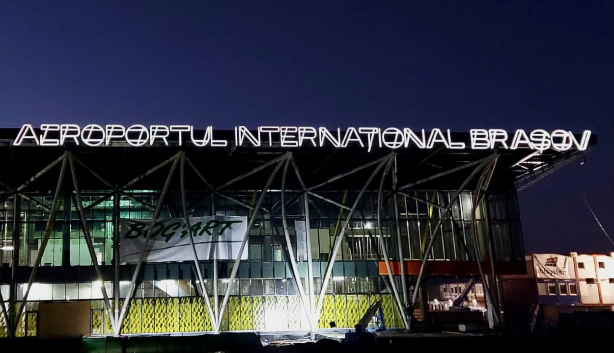 Az új reptér fényei