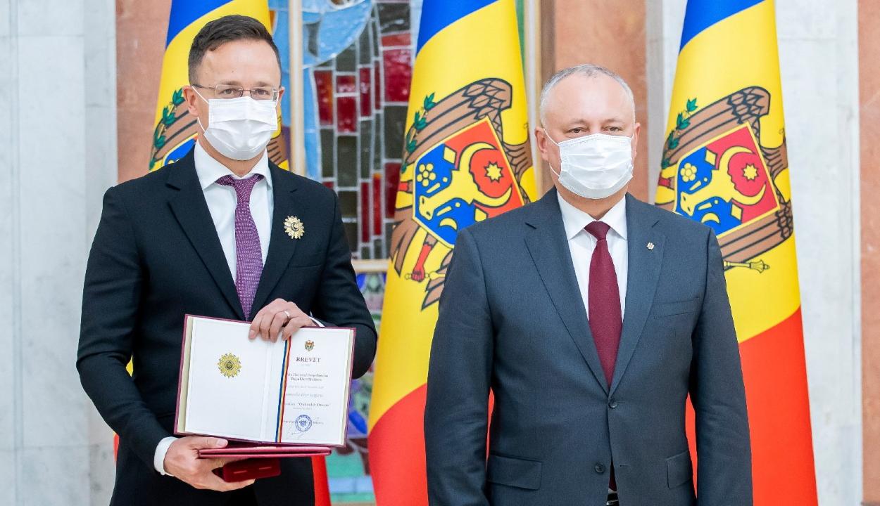 Szijjártó: Magyarország elkötelezett támogatója Moldova európai integrációjának