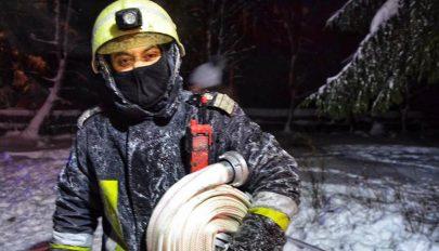 Téli tűzoltás nehézségei