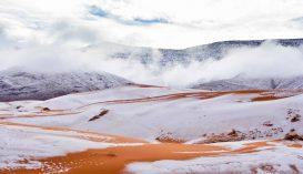 Havazás fehérítette ki a Szaharát