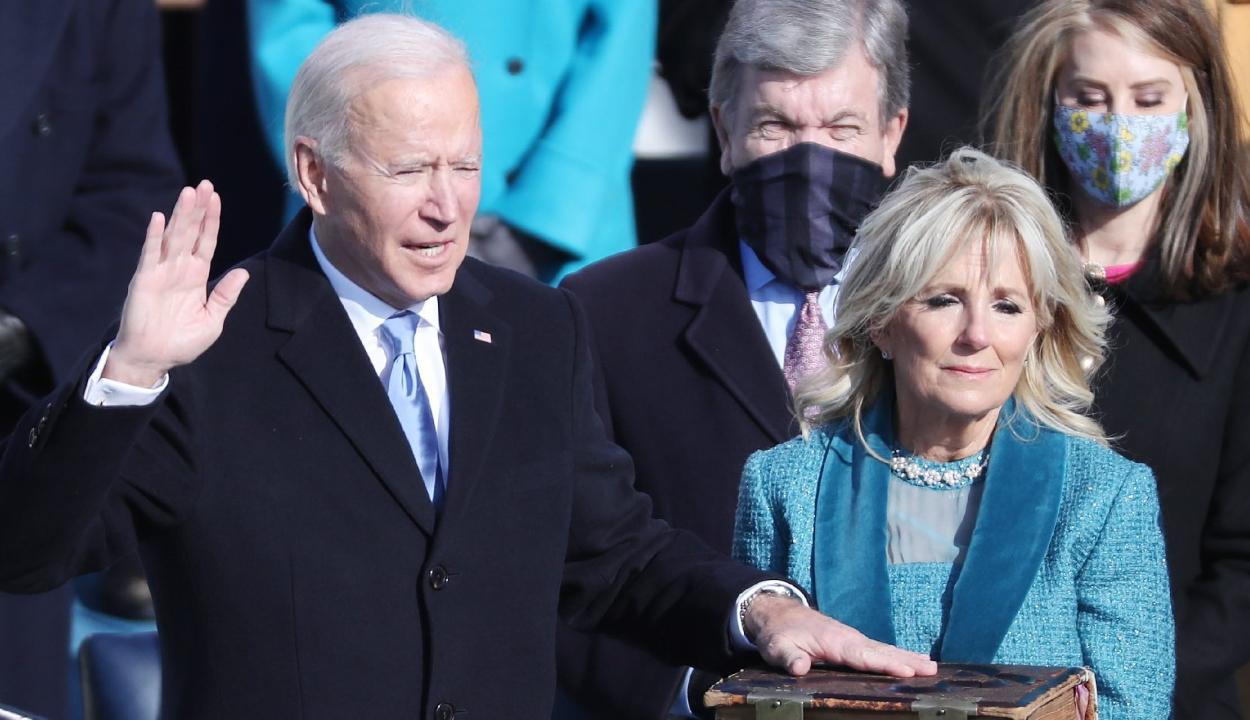 Letette hivatali esküjét Joe Biden amerikai elnök