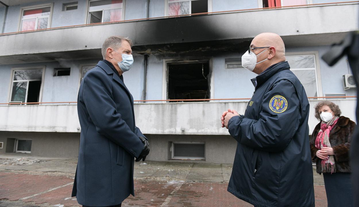 Tűz a Matei Balş intézetnél/Iohannis: gyors megoldásokkal kell előállni