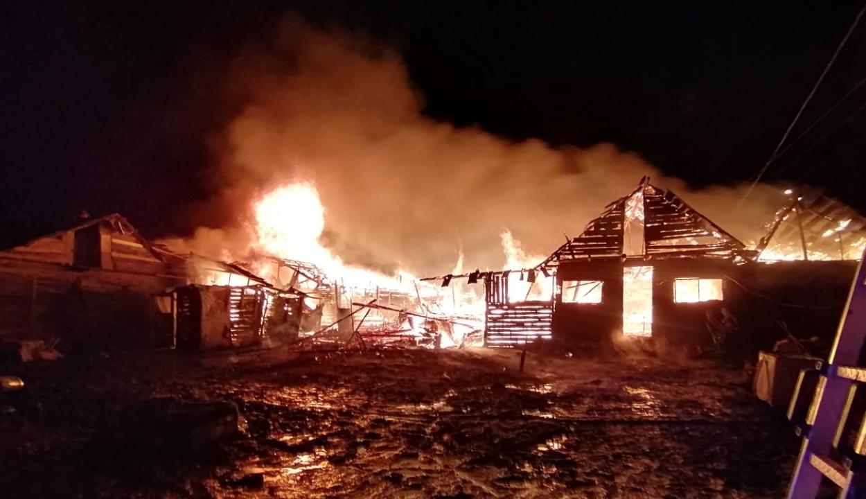 FRISSÍTVE: Szinte teljesen leégett a csíkszeredai romatelep